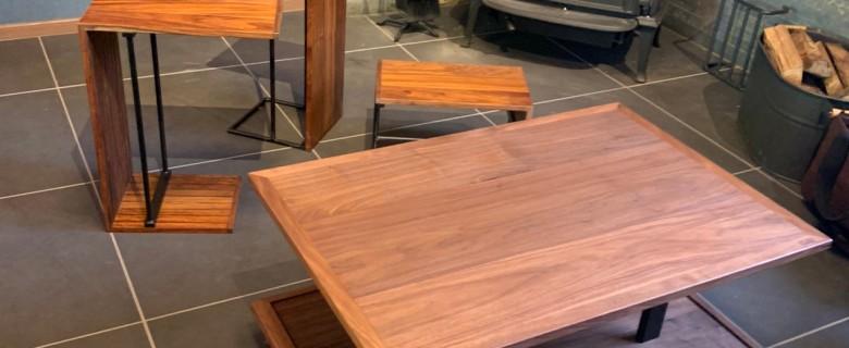 センターテーブル(サイドテーブル収納型)